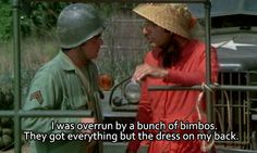 When Klinger when he had to sacrifice his dress collection, something deep inside me was extremely sad to see those dresses go