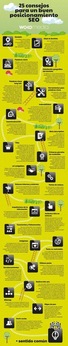 Consejos para mejorar el SEO de una web #infografia #infographic #SEO