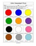 Colors activities for preschool pre-K and Kindergarten