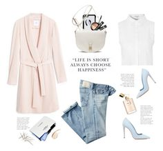 """""""..."""" by yexyka ❤ liked on Polyvore featuring AG Adriano Goldschmied, Kate Spade, New CID Cosmetics, Glamorous, Dee Keller, Mulberry, Burberry and dusterjacket"""