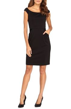Catherine Catherine Malandrino 'Audrey' Off the Shoulder Sheath Dress available at #Nordstrom