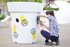 Pomysł na miejską integrację: wielkie donice   Nunoni   poznań design days   public space with large flower pots gianto