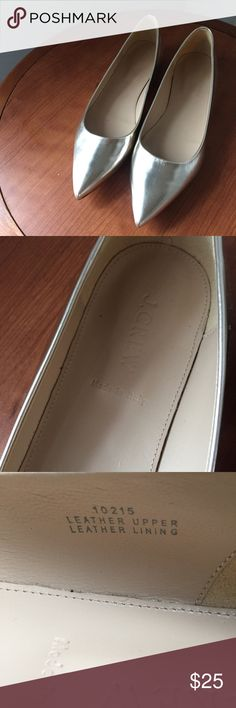 J crew flat shoes Metric silver pointy toe flat shoes.  New without tag.  Size 9 1/2 J crew Shoes Flats & Loafers