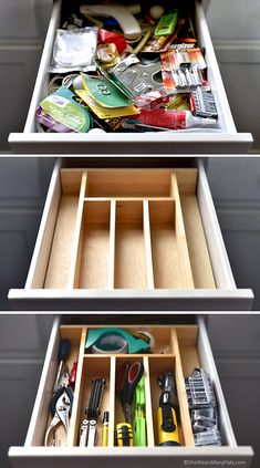 Your junk drawer is no match for us! See how @wearsmanyhats  got organized with storage features from @masterbrandinc just in time for the holidays. #CupboardConfessions