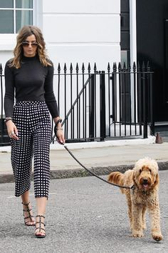 Nice way to wear culottes in the fall!
