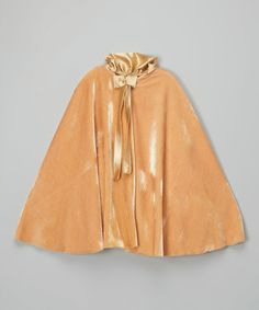Another great find on #zulily! Gold Cape - Infant, Toddler & Girls by Kid Fashion #zulilyfinds