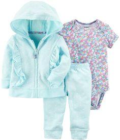 Carter's Baby Girl 3-piece Jacket, Bodysuit, & Pants Set