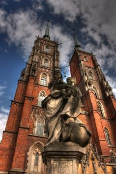Cathedral in Wroclaw, Poland