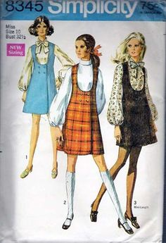 Simplicity Junior Misses Jumper Blouse Sewing Pattern #8345