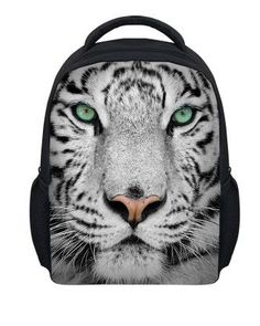 FORUDESIGNS 2017 Hot Zoo Animal 3D Printing Kindergarten School Bagpacks  for Kids Tiger Head Toddler Kids School Bags 13efd05d0ad6a