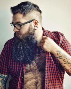 and long strand of fur on his lovely fuzzy chest! Gay Beard, Epic Beard, Beard No Mustache, Moustache, Scruffy Men, Hairy Men, Bearded Men, Beards And Mustaches, Long Beard Styles