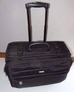 "Solo Black Luggage Classic Rolling Catalog Case 18"" #Solo"