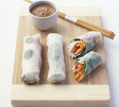 rice paper wraps | Crystal herb rice paper rolls with peanut sauce recipe - Recipes - BBC ...