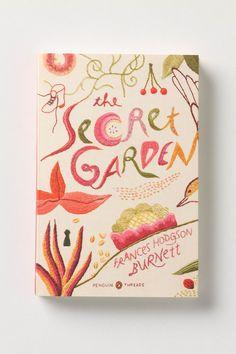 Embroidered Penguin Classic, Secret Garden #Anthropologie