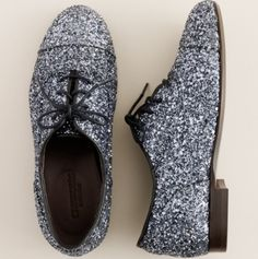 Glitter Oxfords.