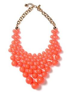 Dotz Bib Necklace by Kate Spade.  Love the color and the playful style of this--how can you look at it w/o smiling?