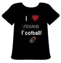16fcefecc Houston Texans Shirt I love Texans Football by PoshBlingBoutique