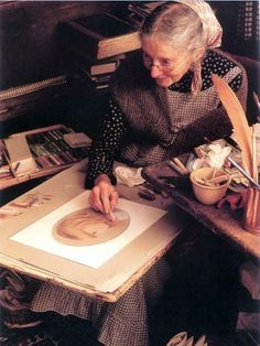 Tasha Tudor at work.