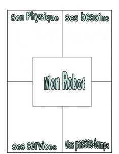 Production Écrite: La description (Mon robot) Robots, French, Writing, Robotics, French People, Robot, French Language, France, Letter