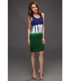 MICHAEL Michael Kors Tie Dye Sweater Tank Dress -  Palmetto Green