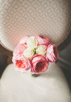pink peony and rose bouquet by Fifty Flowers
