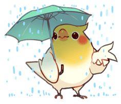 Coca Bird by ErA sticker Cute Cartoon Drawings, Cute Kawaii Drawings, Cute Animal Drawings, Bird Drawings, Anime Animals, Animals And Pets, Cute Animals, Funny Birds, Cute Birds