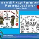 This is a simple poster that can be printed in color and displayed in your classroom, or it can be printed in black and white for your students to . May Themes, Simple Poster, Always Remember, Social Studies, Memorial Day, Special Day, Students, Classroom, Seasons