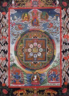 Manjushri, the bodhisvitta of transcendent wisdom, Mandala