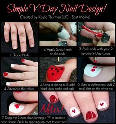 #LJIC TUES-TORIAL TIME!! We are coming into the season of love and what better way to celebrate V-Day then a cute Valentine's Day inspired nail design! Check out this fun look created by Kayla T. from La' James International College - East Moline.   For a closer look at the colors & products used visit, http://ljic1.tumblr.com/post/109311738826/simple-v-day-nail-design #LjicEM #TuesTorial #TuesdayTutorial #LjicTutorial www.LJIC.edu www.facebook.com/lajamesinternational