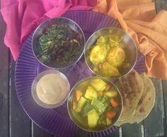 Rezept Vegetarisches indisches Menü von kedgeree - Rezept der Kategorie sonstige Hauptgerichte