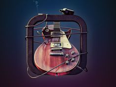 Dribbble - Gibson Les Paul by Zhivko Terziivanov