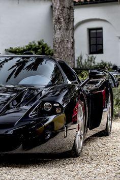 ✮ SPORTS CAR ✮ Super Car Black The Black #Maserati MC12. . . See more #sportscars at www.fabuloussavers.com/wcars.shtml