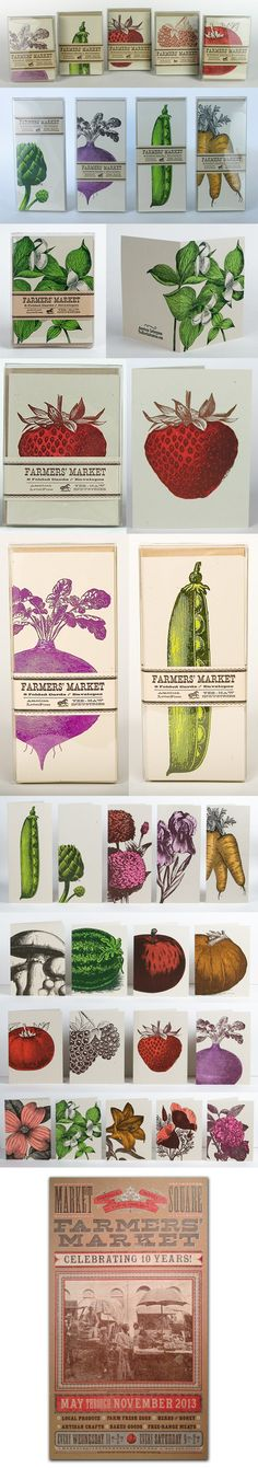 PioneerHouse, LETTERPRESS and DESIGN, FARMERS MARKET