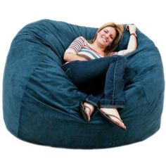 Love this cozy love seat bean bag chair for teen rooms!