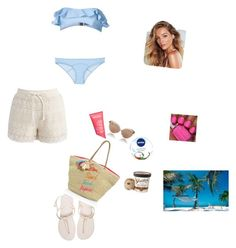 """""""Untitled #74"""" by paulans on Polyvore featuring Chicwish, Nivea, Havaianas, Lisa Marie Fernandez, Linda Farrow and Rebecca Minkoff"""