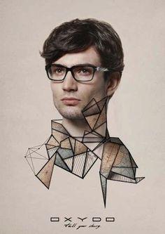When I first saw this eyewear ad, I went WHaaaa? It