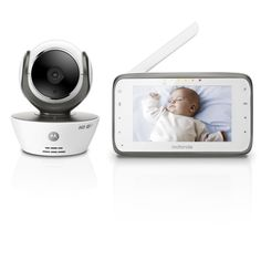 "The Motorola Digital Video Baby Monitor with WiFi Internet Viewing with 4.3"" Digital Screen has compelling sound and image quality. This baby monitor is compatible with smart devices and computers."