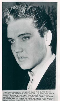 Elvis in the 50's just before the army