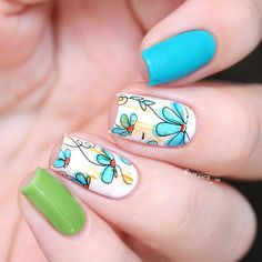 2 Sheets/Set Flower Design Nail Art Water Decals Transfer Sticker For Diy Bp-W17