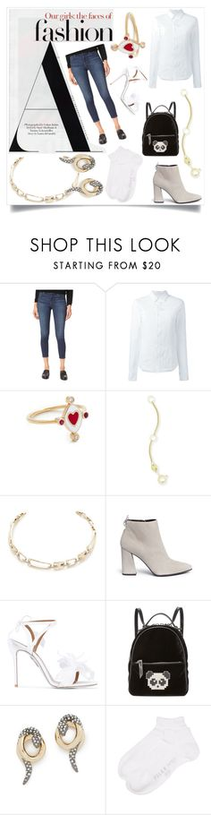 """FASHION BUG"" by ramakumari ❤ liked on Polyvore featuring J Brand, A.F. Vandevorst, Holly Dyment, Kendra Scott, Alexis Bittar, Stuart Weitzman, Aquazzura, Les Petits Joueurs and Falke"