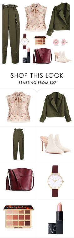 """For Ocean Look #5"" by jidekato on Polyvore featuring Needle & Thread, Alexander Wang, Gianvito Rossi, Topshop, tarte, NARS Cosmetics, Irene Neuwirth and moods"