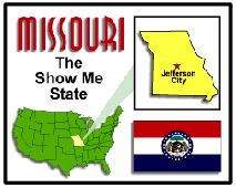 LESSON Missouri State Unit Study - Geography, State Symbols  Facts -This site has tons of links that give syou information and lets you print off any papers and worksheets. It can help out with a MO history unit/lesson