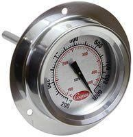 2225-20 Flange Mount Pizza Oven Thermometer with Dual Scale
