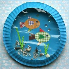 fish bowl with paper plates