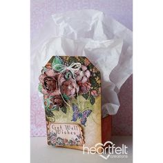 Heartfelt Creations - Peach Rose Gift Box Project