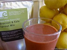 Vitamix Recipes. Raw Vegan Strawberry Lemonade Sprouted Green Smoothie using @Sprout Living