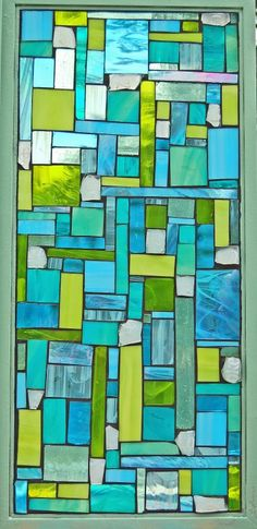 """""""Phizz"""" stained glass mosaic window by grey dog studio - Another idea for my glass tiles and pieces."""