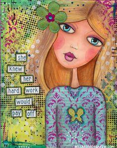 Bella Rose Creative- Mixed Media Girl Art Journal