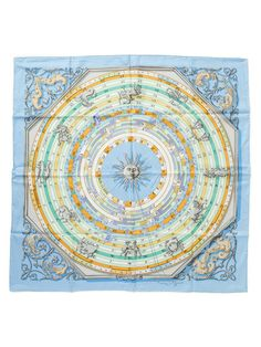 """""""Astrologie"""" Silk Twill Scarf 35 1/2"""" x 35 1/2"""" by Hermès at Gilt"""
