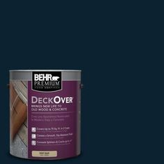 BEHR Premium DeckOver 1-gal. #SC-101 Atlantic Wood and Concrete Coating-500001 - The Home Depot